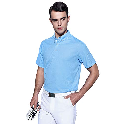 1b6767145 EAGEGOF Men's Shirts Short Sleeve Tech Performance Golf Polo Shirt Loose Fit  - Buy Online in Oman.   Apparel Products in Oman - See Prices, Reviews and  Free ...