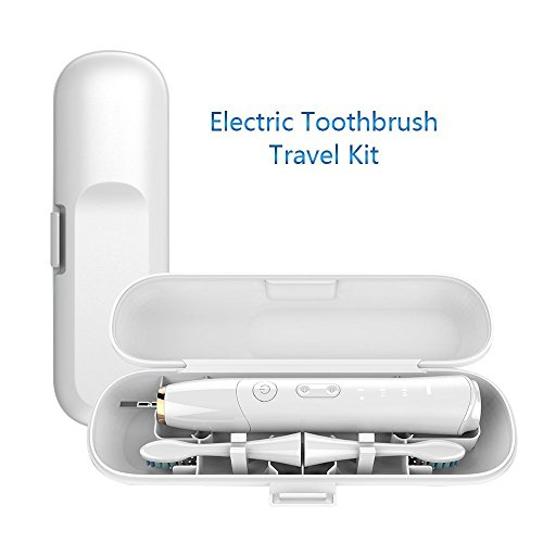 Electric Toothbrush Travel Case, Special Drainage Design Dry Clean and Hygienic ABS Toothbrush Case for Standard Electric Toothbrush (White)