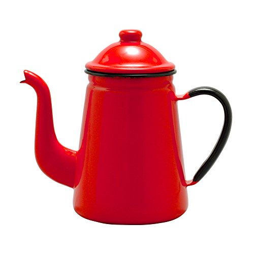 - TOP mark enamel coffee pot # 13 Red FKC10133A (japan import)