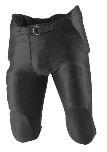 Rawlings F4500P Adult Integrated Football Pants (Black, Medium)