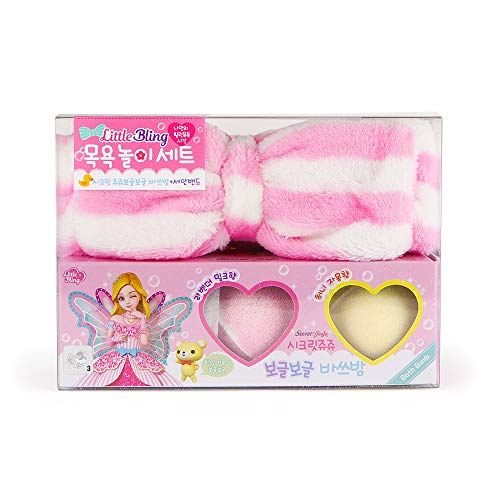 Headband for Washing Face Set -Organic and Natural Bath Bomb Moisturizing the Dry Skin Prefect Gift for Kids Made in Korea ()