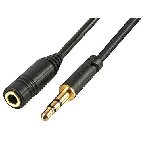 3,5 mm enchufe delgado Mini Jack para auriculares estéreo con Cable alargador: Amazon.es: Electrónica