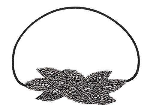 Alilang Girls Stretchy 1920s Leaf Flapper Hairband]()