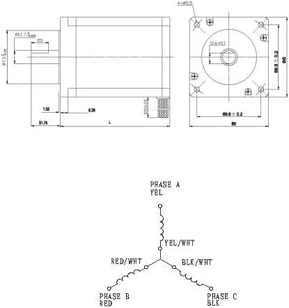 NEMA34 DC Brushless Motor KL34BLS-98-B