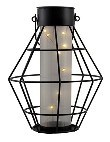 Hexagon Solar Light (Alpine Corporation Solar Hexagon Lantern with LED String Lights)