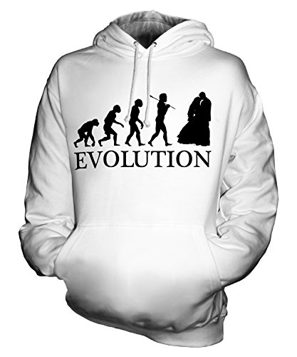 CandyMix Unisex Wedding Evolution Of Man Mens/Womens Hoodie, Size Small, Color White by CandyMix
