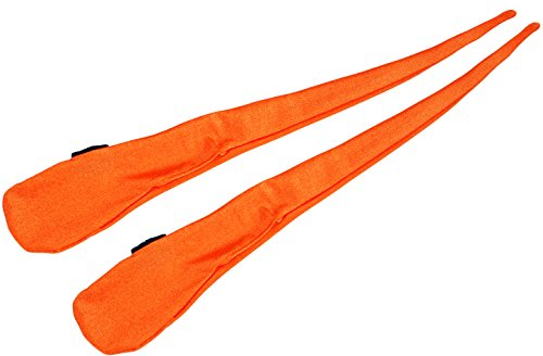 Pro Sock Poi (ORANGE) Flames N Games Pro Spinning Poi Socks - Pair of Quality Stretchy Lycra Poi (125mm Contact Juggling Ball)