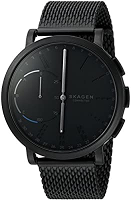 Skagen Connected Men's Hagen Stainless Steel Mesh Hybrid Smartwatch, Color: Black (Model: SKT1109) by Skagen Watches