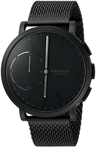 Skagen Connected Men's Hagen Stainless Steel Mesh Hybrid Smartwatch, Color: Black (Model: SKT1109) by Skagen