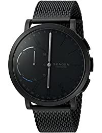 Hagen Stainless Steel Mesh Hybrid Smartwatch, Color: Black SKT1109