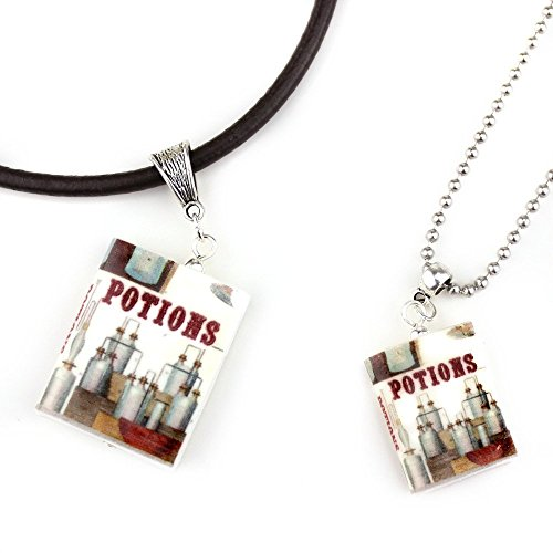 POTIONS Clay Mini Book Pendant Necklace Unisex by Book Beads