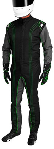- K1 Race Gear CIK/FIA Level 2 Approved Kart Racing Suit (Green, X-Small)