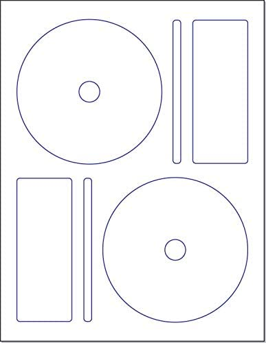 Amazon Com Memorex Cd Dvd Label 2 Per Page 250 Labels 125 Sheets Office Products