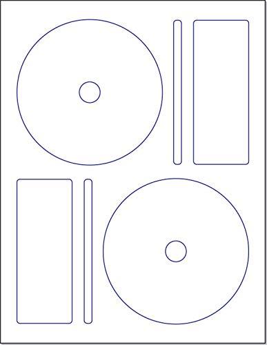 Memorex CD/DVD Label, 2 Per Page (250 Labels / 125 Sheets) ()