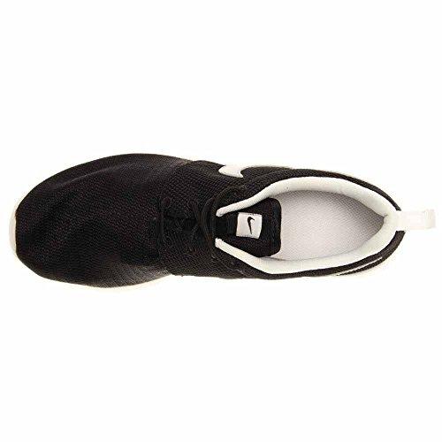 Nike Roshe Run 599728, Ragazzi Scarpe Da Corsa Nere (nero-argento Metallizzato-bianco)
