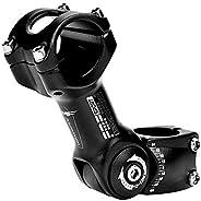 25.4 * 110mm Bike Stem with Adjustable 0~60°Angle High-Strength Handlebar Stem for City Mountain Road Bikes Cy