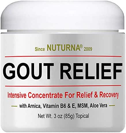 Gout Relief Cream - Clinical Strength Gout Support for Toe Finger Elbow Relief, Large 3oz Ultra Strength Arnica, MSM, Menthol, Instant Soothing Relief, Fast-Acting Anti-Inflammatory Relief