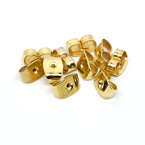 Coolrunner 5 Pairs 14K Gold Filled Earring Backs Ear Nuts