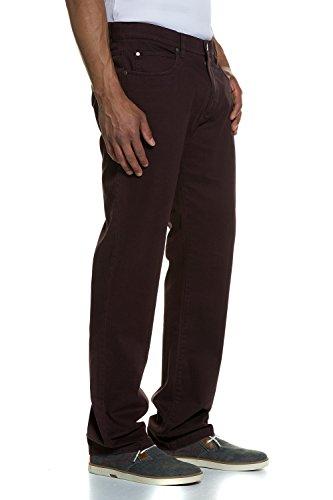 JP 1880 Homme Grandes tailles Pantalon 5 poches, imprimé bordeaux 66 706470 50-66