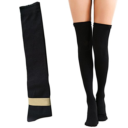 Wear Fashion Boots (Crochet Thigh High Stockings Vinmax Sexy Women Girl Fashion Knit Leg Warmer Over Knee High Socks Elegant Boot Socks Black for Cosplay, Halloween, Party, Daily Wear, One Size (1))