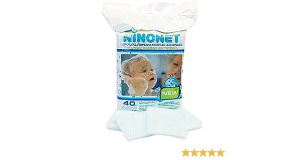 Esponjas jabonosas desechables infantiles NINONET®. Paquete con 40 esponjas especiales para las pieles sensibles del bebé: Amazon.es: Bebé