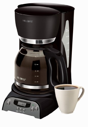 Mr. Coffee DRX23 12-Cup Programmable Coffeemaker, Black