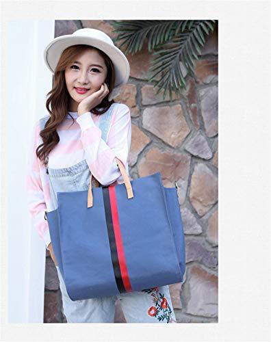 main toile grand coréenne sacs à nouveau Sky bandoulière sac sac capacité à femmes LANDONA de Bag sac Blue en simple sac grand Messenger 0gPx7Zpq