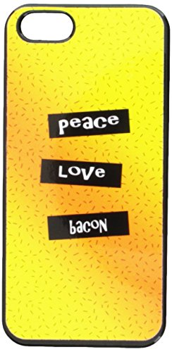 Graphics and More Peace Love Bacon Snap-On Hard Protective Case for iPhone 5/5s - Non-Retail Packaging - Black