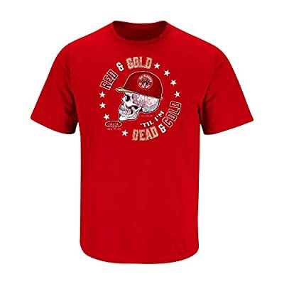San Francisco Football Fans. Red & Gold Til I'm Dead and Cold Red T-Shirt