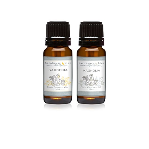 Room Oil Fragrance Spray Perfume (Pair (2) - Barnhouse Blue - Magnolia & Gardenia - Premium Fragrance Oil Pair - 10ml)