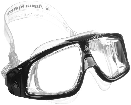 Aqua Lung America Seal Mask With Clear Lens  Silver Black