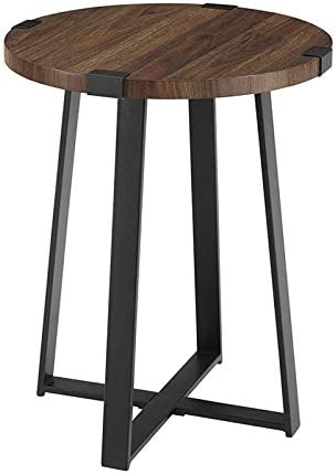 Pemberly Row 18 Metal Wrap Round Side Table