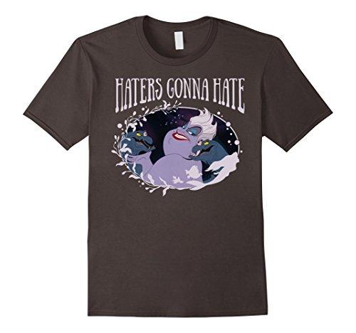Mens Disney Little Mermaid Ursula Haters Gonna Hate T-Shirt C1 Large Asphalt (Ursula Mermaid)