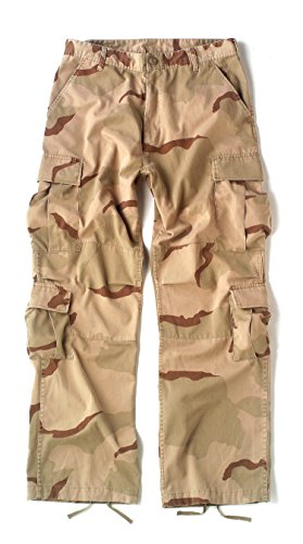 - Tri-color Vintage Paratrooper Fatigues, Large