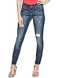 Guess Factory Women's Sienna Distressed Curvy Skinny Jeans