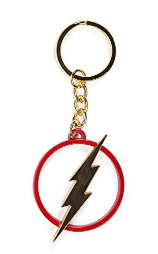 Bioworld DC Comics The Flash Cut Out Logo Metal Keychain (Comic Key)