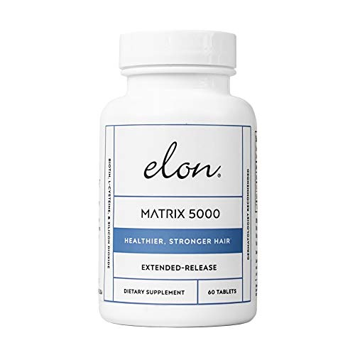 - Elon Matrix 5000 with 5000 mcg Biotin | Healthier & Stronger Hair | Pharmaceutical-Grade Ingredients & Extended-Release | For All Hair Types (60 tablets)