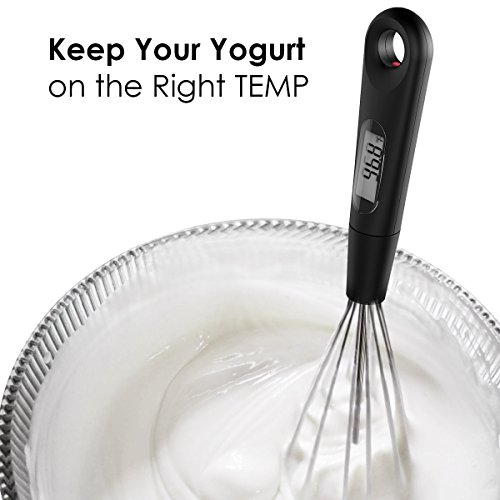Large Product Image of CAPPEC Strike Instant Read Digital Cooking Thermometer with Whisk for Chocolate Icing Creamer Yogurt and Homemade Soup