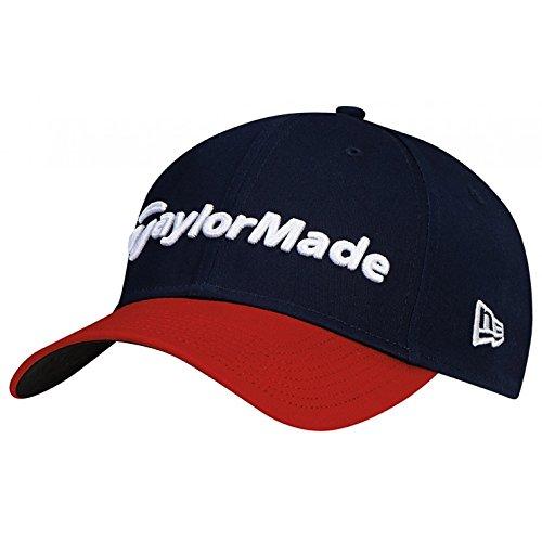 TaylorMade Golf 2017 lifestyle new era 39thirty hat navy/red/white ()