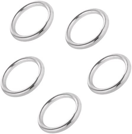 WAZS Assorted Size 304 Stainless Steel Welded Round O-Rings for Boat Marine,Pet,Hanging /& Decoration
