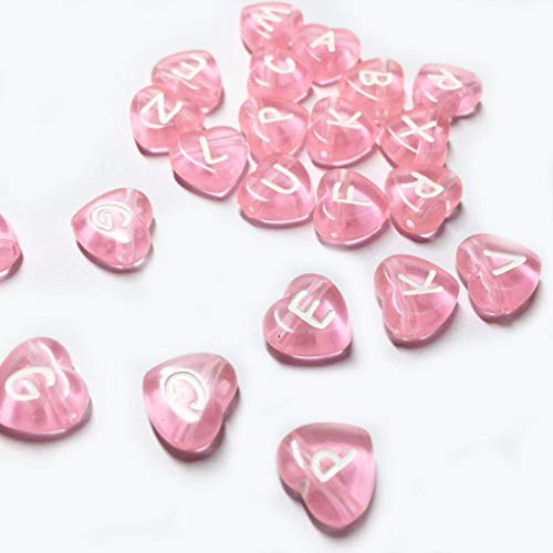 - Letter Beads Transparent Pony Love Heart Style (12mm x 3mm) Acrylic Alphabet White Letter 'A-Z' Craft for DIY Projects