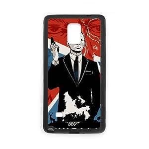 Nota 4 caso del teléfono celular de Funda Samsung Galaxy Funda Negro Skyfall D6Z3MR