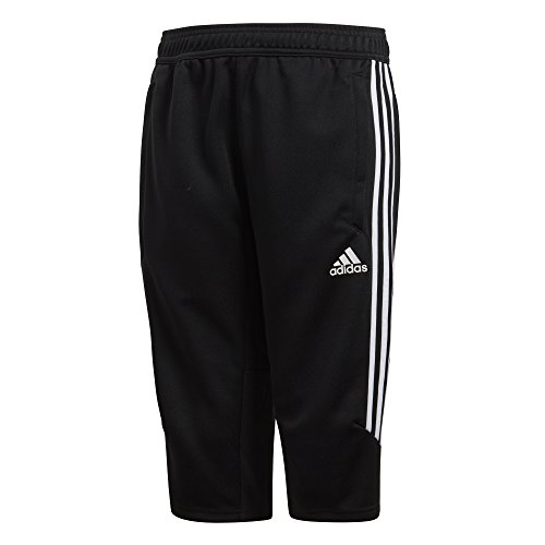 adidas Youth Soccer Tiro 17 3/4 Pants, Black/White, Medium ()