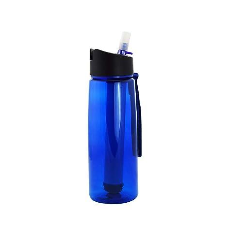 FHTDB Botella de Agua para Deportes, BPA de 500 ml de BPA, plástico no tóxico, Botella de Agua para Deportes, Botella de Agua Resistente: Amazon.es: ...