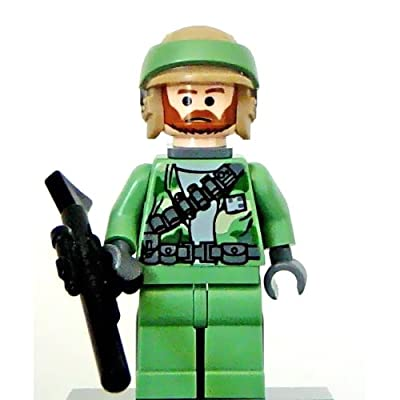 Lego Star Wars Mini Figure - Endor Rebel Commando (Beard) with Blaster Rifle (Approximately 45mm / 1.8 Inches Tall)