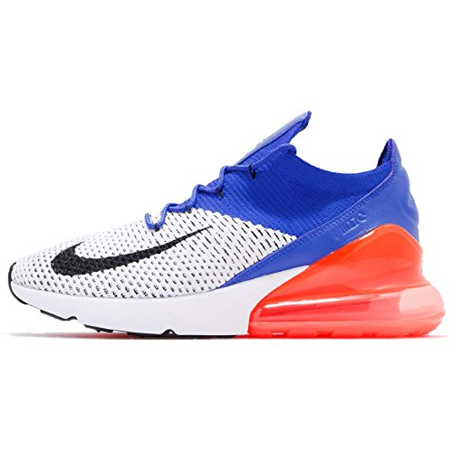 Nike Air Max 270 Flyknit Mens Running Trainers AO1023 Sneakers Shoes (UK 12 US 13 EU 47.5, White Racer Blue 101)