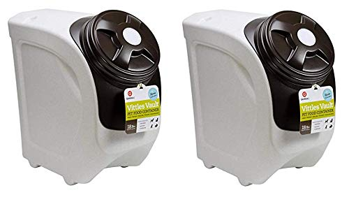 Vittles Vault 4318 Home Stackable Airtight Pet Food Storage Container, 18 lb, Mocha Granite (Twо Расk)