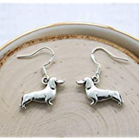 Dachshund Earrings Sterling Silver - Pet Remembrance Wiener Dog Gifts