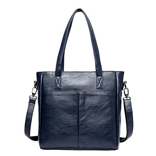 a Borsa tinta unita tracolla a blu One donna donna Wwave New Borsa per Fashion tracolla Big wHHYfUxr