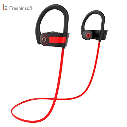Le Freshinsoft Bluetooth Headphones, Wireless Sports Earphones Built-in Mic,HD Stereo Sound Earbuds for Gym Running Workout 8 Hour Battery Noise Cancelling - Operation Bass Hours Of Pro